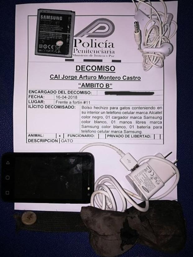 Số hàng mà chú mèo vận chuyển vào nhà tù. Ảnh:Costa Rica Ministry of Justice