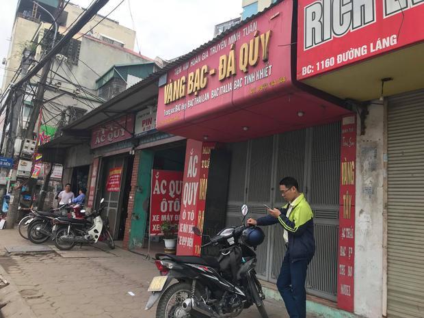 Tiệm vàng nơi xảy ra vụ cướp.