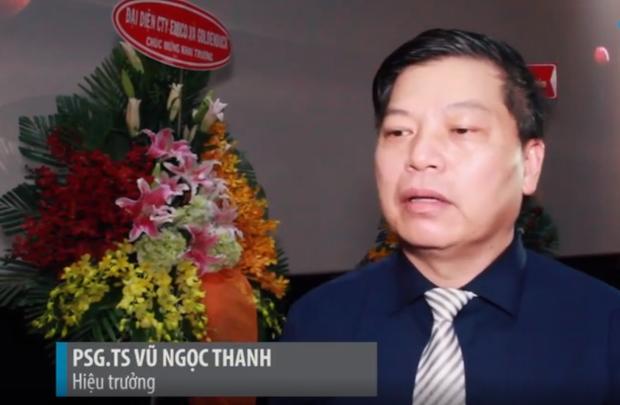 PGS.TS Vũ Ngọc Thanh - Hiệu trưởng trường Đại học sân khấu Điện ảnh TP.HCM.