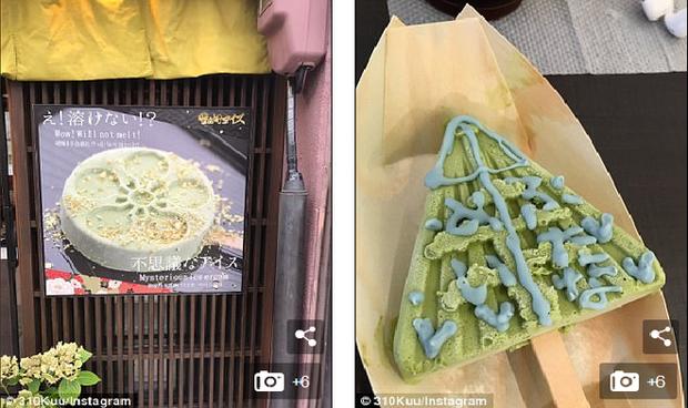 Sau 3 tiếng, loại kem này mới có dấu hiệu tan chảy. Ảnh310Kuu/Instagram