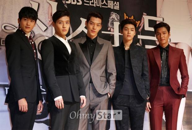 Hội trai đẹp gồm Park Hyung Sik(ZE:A), Kang Ha Neul, Woo Bin, Kang Min Hyuk (CNBLUE) và Lee Min Ho.