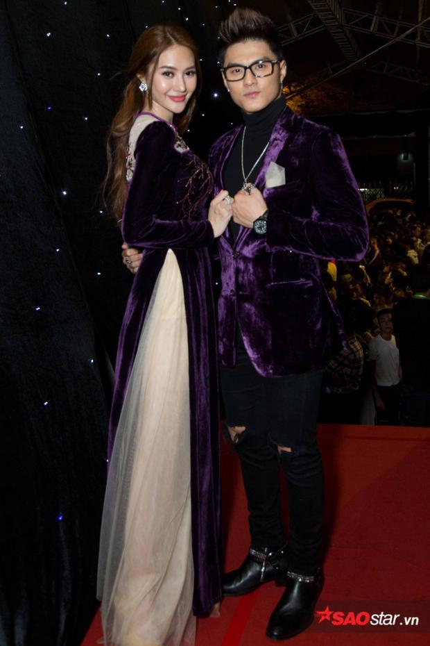 Cặp đôi Linh Chi - Lâm Vinh Hải tình tứ, ton-sur-ton trên thảm đỏ.
