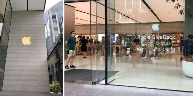 Apple Store mới lạ trong Ngày Trái đất 2018.