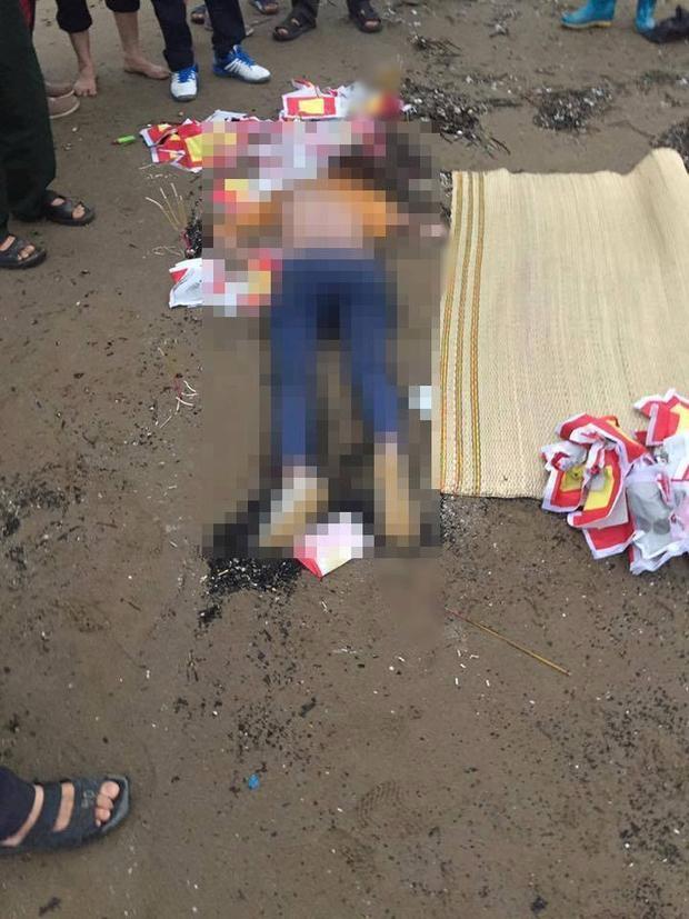 Hiện trường nơi phát hiện thi thể cô gái tử vong trong tư thế nằm úp.