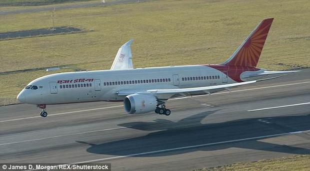 Máy bay gặp sự cố thuộc hãng hàng không Air India của Ấn Độ. Ảnh: James D.Morgan/REX
