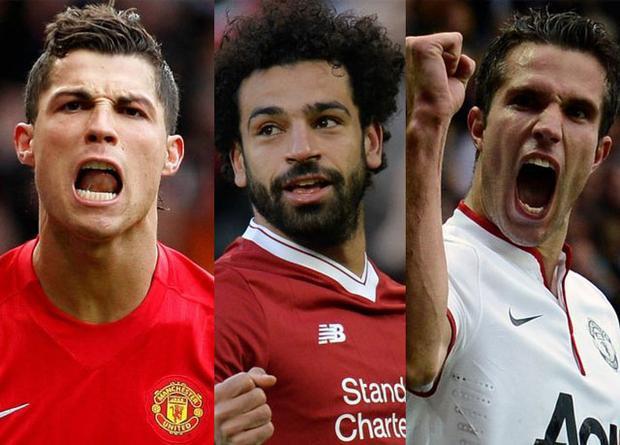 Ghi bàn trong nhiều trận nhất ở Premier League. Đến thời điểm này, Salah đã có 23 trận lập công tại giải Ngoại hạng Anh 2017-2018, vượt qua kỷ lục của Robin van Persie và Cristiano Ronaldo (cả 2 cùng có 21 trận).
