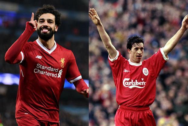 Cầu thủ ghi nhiều bàn thắng chân trái nhất trong 1 mùa giải. Trong tổng số 31 bàn thắng mà Salah ghi được ở Premier League 2017-2018, có tới 24 bàn được ghi bằng chân trái. Điều đó giúp tuyển thủ Ai Cập phá vỡ kỷ lục 19 bàn mà cựu danh thủ Robbie Fowler (19 bàn) thiết lập ở mùa bóng 1994-1995.