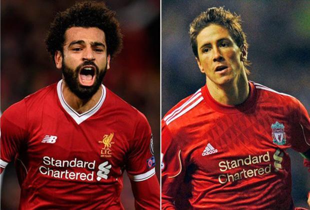 """Cầu thủ ghi nhiều bàn thắng nhất trong mùa giải đầu chơi cho Liverpool. ở mùa bóng 2007-2008, Fernando Torres đã ghi được 24 bàn thắng ở Premier League trong năm đầu gắn bó với Liverpool. Tính đến thời điểm này, Salah đã hơn """"El Nino"""" tới 7 bàn."""