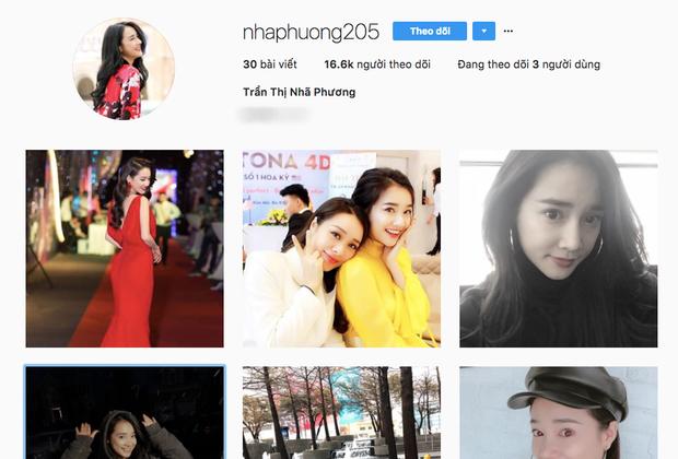 Trên Instagram chính chủ, Nhã Phương chỉ chia sẻ hình ảnh về cuộc sống đời thường, các hoạt động nghệ thuật và rời xa những thị phi, ồn ào showbiz.