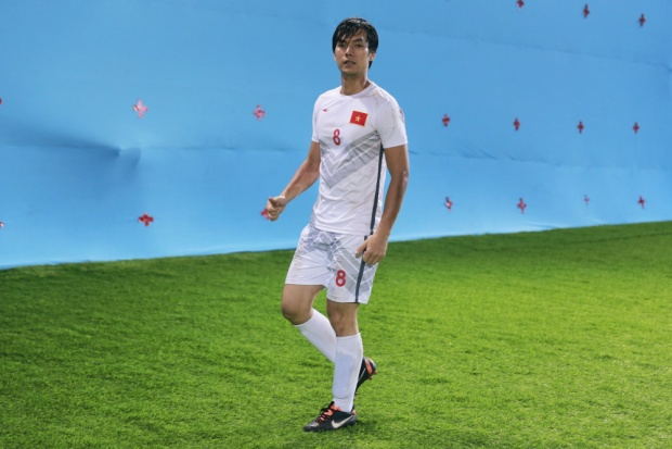 Tạo hình của Nhan Phúc Vinh, vai Phong trong dự án điện ảnh đề tài sân cỏ.