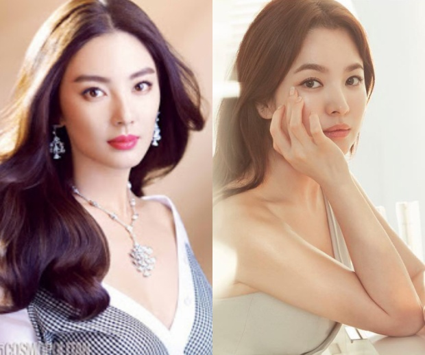 Nhiều năm trôi qua, fan vẫn bối rối khi bức ảnh của Trương Vũ Kỳ và Song Hye Kyo đặt cạnh nhau.