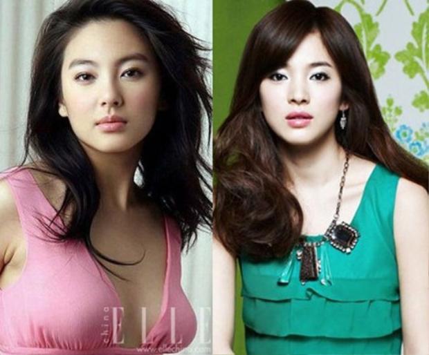 """Đã từng có nhận xét cho rằng Trương Vũ Kỳ chính là """"Song Hye Kyo"""" của Trung Quốc do cả hai cùng sở hữu ngũ quan khá tương đồng từ đôi mắt hai mí rõ nét, sống mũi thẳng tắp cùng đôi môi gợi cảm."""