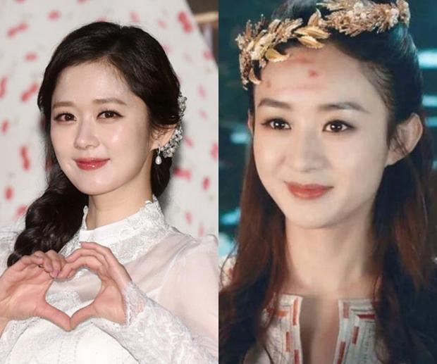 """Nếu hỏi nét đẹp """"trẻ thơ"""" của Jang Nara khiến người ta liên tưởng đến ngôi sao nào của làng giải trí Đại lục, thì câu trả lời phần lớn sẽ đều nghiêng về nàng """"Hoa Thiên Cốt"""" Triệu Lệ Dĩnh."""