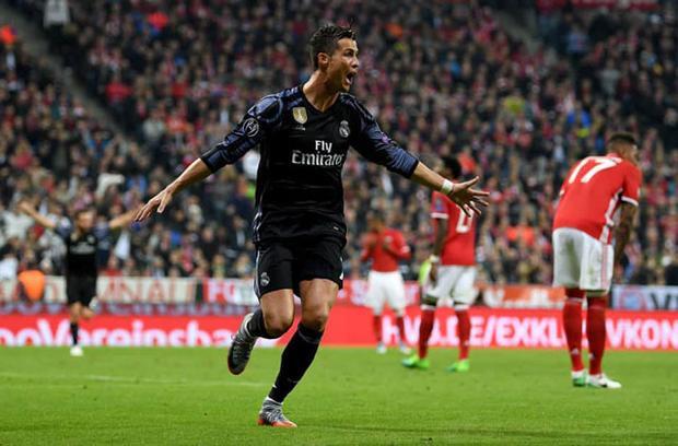 Ronaldo rất có duyên ghi bàn vào lưới Bayern.