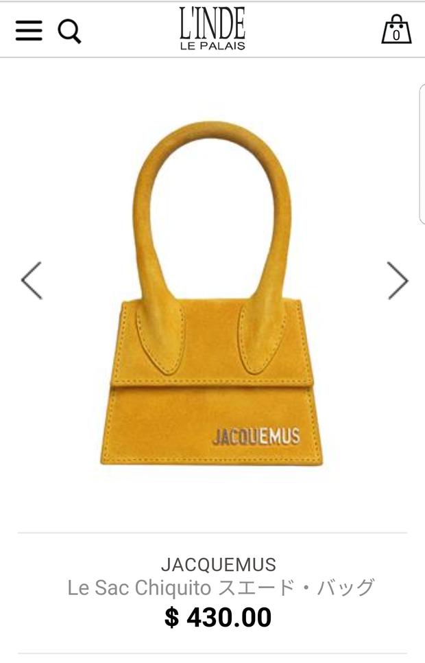 """Tuy """"bé xinh"""" như vậy, nhưng mẫu túi này của Jacquemus có giá chẳng hề rẻ tí nào. Để sở hữu nó, bạn cần bỏ ra số tiền là 430$, hơn 10 triệu đồng."""