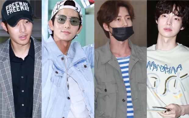 Kim Hyun Joong, Lee Jun Ki, Park Hae Jin và Ahn Jae Hyun (từ trái sang phải).