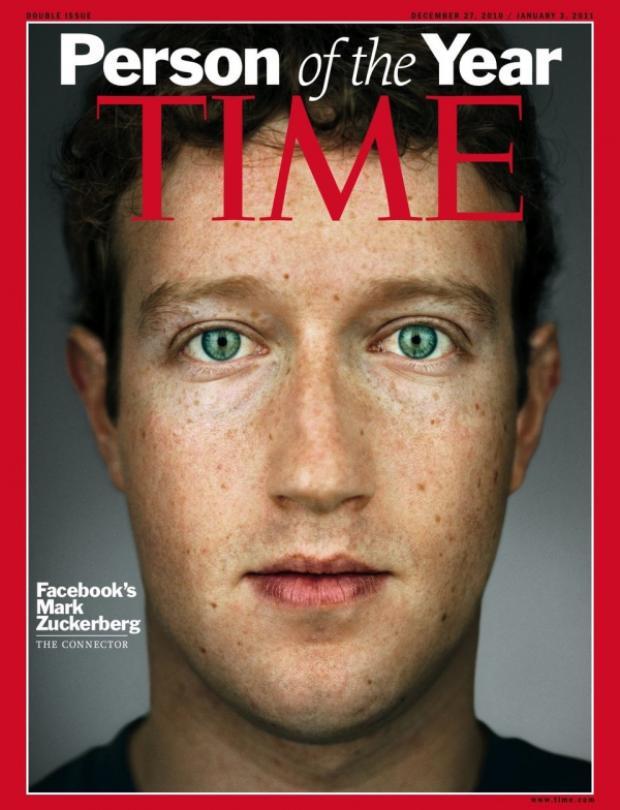 """Năm 2010, Time vinh danh Mark Zuckerberg là """"Nhân vật của năm""""."""