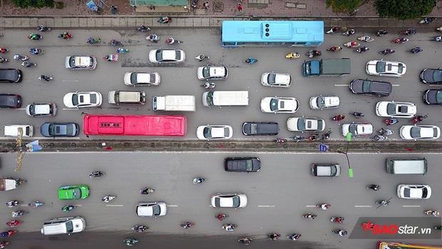 Giao thông tại Trường Chinh khi nhìn từ trên cao.