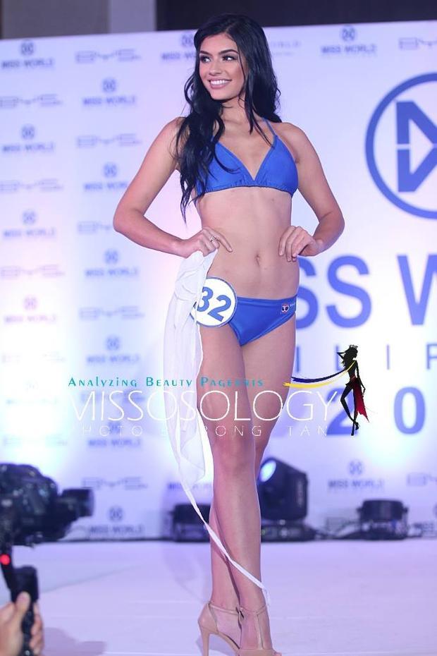 Hình ảnh củaCynthia Thomalla khi tham gia Miss World Philippines vào năm 2017.