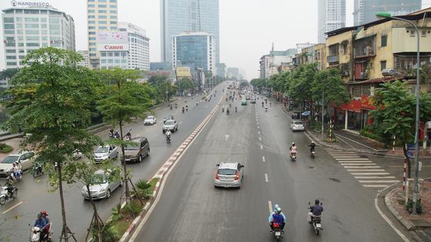 Hình ảnh này chỉ có thể có trong những ngày lễ Tết ở Hà Nội.