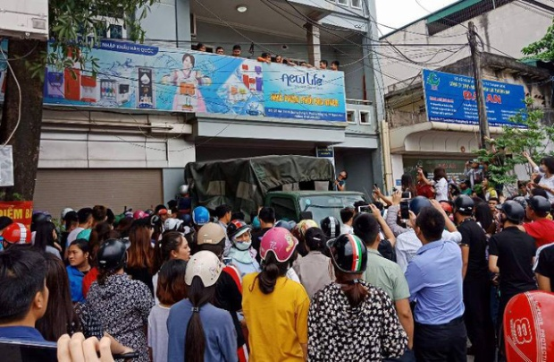 Một địa điểm hoạt động của Hội Thánh Đức Chúa Trời tại Thanh Hóa bị công an lập biên bản. Ảnh: Dân Trí.