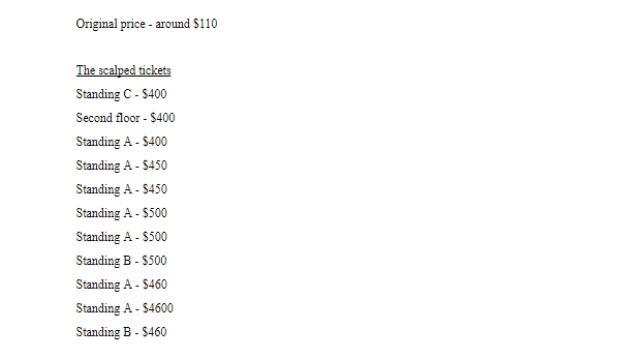 Bảng giá quy đổi qua USD.