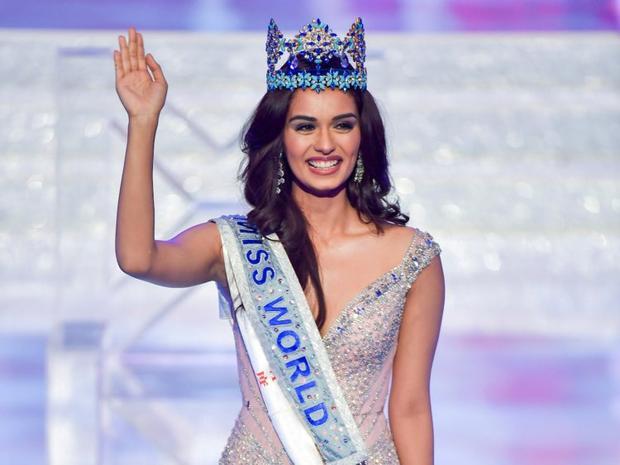 Đương kim Hoa hậu Thế giới Manushi Chhillar, người Ấn Độ.