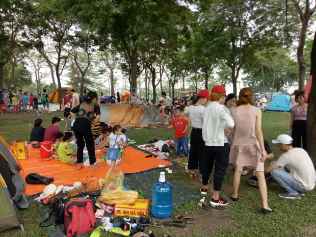 Công viên mở cửa miễn phí nên đây được xem là địa điểm lý tưởng cho các gia đình dịp lễ này.