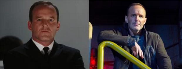 Hãy tìm ra sự khác biệt giữaPhil Coulson trong Iron Man 2008 vàAgents of SHIELD 2018.
