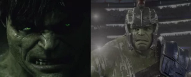 Tuy nhiên, anh chàng khổng lồ Hulk thì không có nhiều thay đổi.