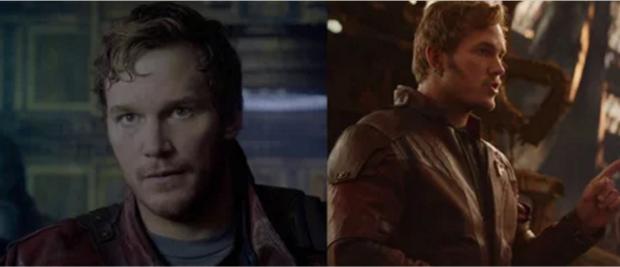 Từ lần xuất hiện ởGuardians of the Galaxy2014, anh chàngStarlord củaAvengers: Infinity War không có thay đổi gì.