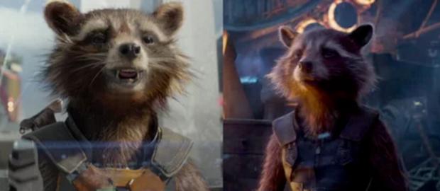 Dù là một nhân vật hư cấu hoàn toàn nhưngRocket Raccoon có vẻ gầy hơn một chút thì phải?