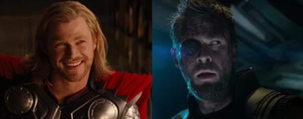 Mất đi một con mắt là sự khác biệt lớn nhất đối với anh chàng Thor.