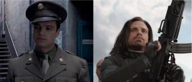 Nếu như Thor mất đi 1 con mắt thì anh chàng chiến binh mùa đôngBucky Barnes thay thế cánh tay trái bọc kim loại.