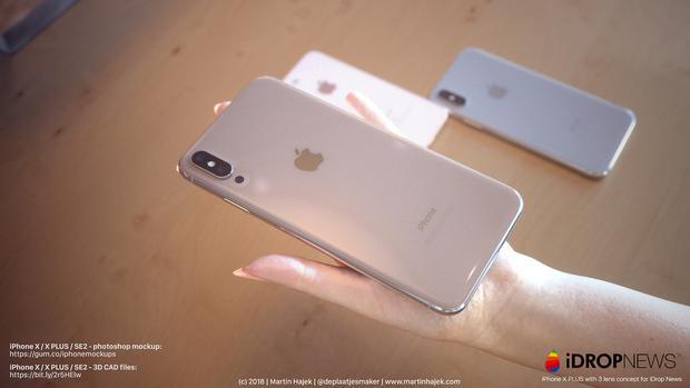 Apple ngoài ra còn có thể sẽ ra mắt một chiếc iPhone có kích thước màn hình lên tới 6,5 inch. Tuy nhiên, có thể thấy, với các viền màn hình gần như tối giản hoàn toàn, máy vẫn sẽ có kích thước tương đối nhỏ gọn. Ở mặt lưng, người dùng còn có thể chờ đợi sự xuất hiện của một hệ thống ba camera, như một số thông tin gần đây.