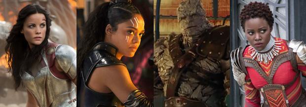 Bộ tứ mất tích trong Infinity War: Lady Sif - Valkyrie - Korg - Kania