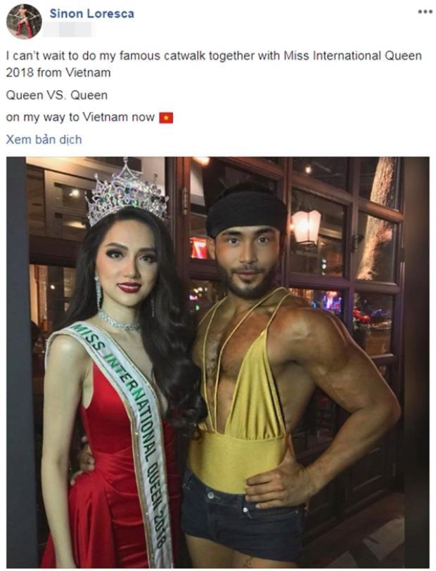 Từng gặp nhau ở Thái Lan, Sinon không giấu được sự hào hứng nếu được đọ tài catwalk cùng Hương Giang tại Việt Nam.