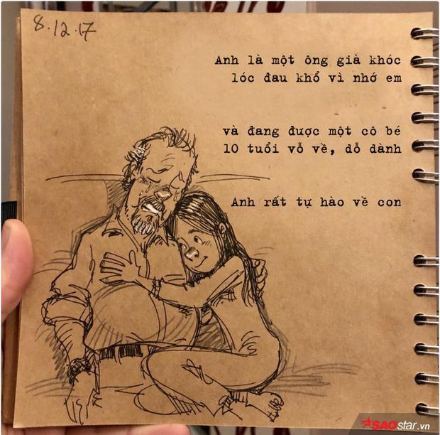 Nhật ký bằng tranh đẫm nước mắt của người đàn ông mất vợ đột ngột, một mình nuôi 2 đứa con gái