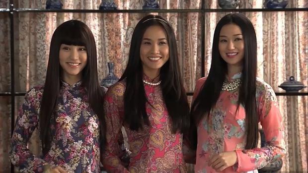 Thanh Trà (Ngân Khánh), Bạch Trà (Dương Mỹ Linh) và Hồng Trà (Khánh My)