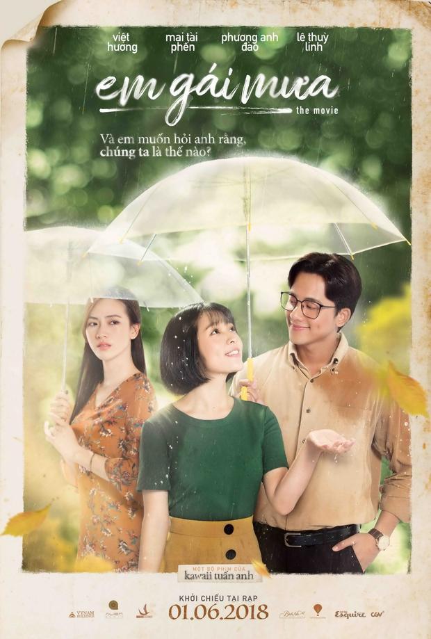 Trước mặt Hương Tràm, Trang Hý tỏ tình với Mai Tài Phến tại buổi ra mắt phim Em gái mưa