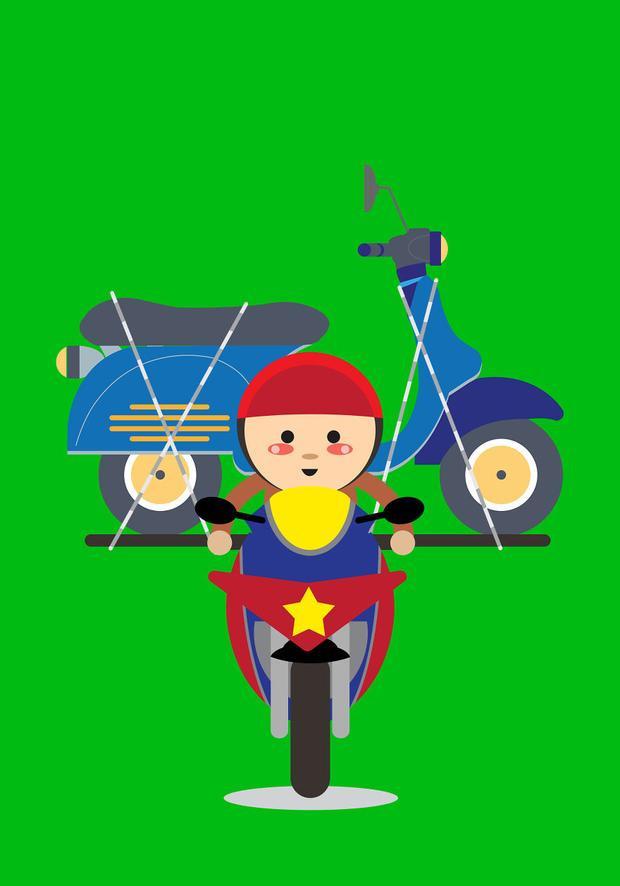 Đừng lạ khi xe máy cũng chở được xe máy.