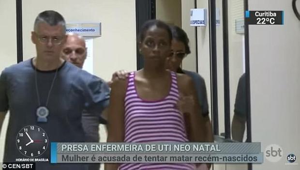 Nữ y tá Santos có hơn 10 năm kinh nghiệm trong nghề. Ngay sau khi để xảy ra sự cố, cô ta lập tức bị sa thải và bị bắt tại nhà riêng sau đó ít ngày. Ảnh: CEN