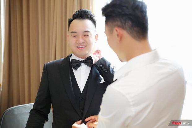 Vị hôn phu Diệp Lâm ANh xuất hiện cực bảnh bao.