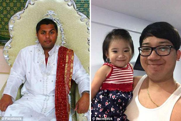 Mangaccat cùng con gái 3 tuổi. Ảnh Facebook