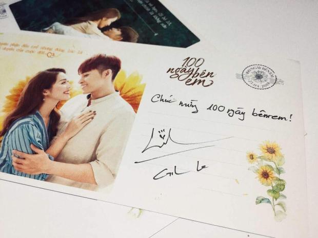 """Gil Lê cùng nhiều nghệ sĩ nổi tiếng gửi thiệp chúc mừng và bày tỏ niềm yêu thích với phim điện ảnh """"100 ngày bên em""""."""
