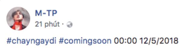 Thế nhưng điều quan trọng nhất là đây. Thời điểm ra mắt MV được công bố. Chính thức chấm dứt chuỗi ngày hoang mang về ngày phát hành sản phẩm mới từ Sơn Tùng.