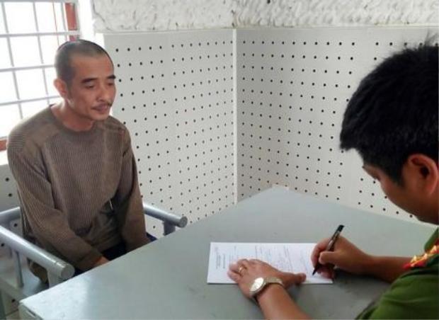 Đặng Thanh Tuyền tại cơ quan điều tra. Ảnh: Gia đình.net