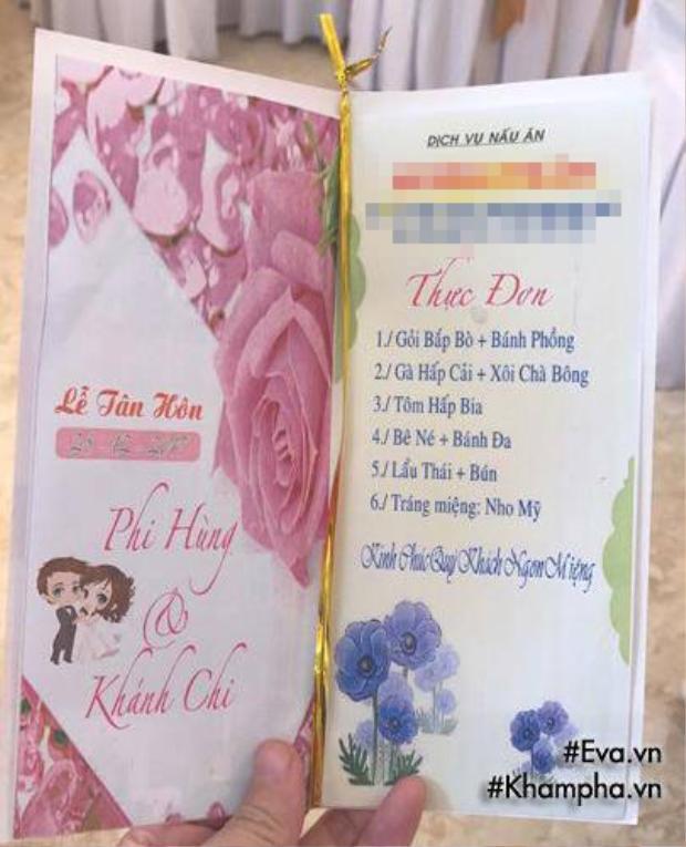 Tiệc cưới bình dân trong lễ đón dâu tại nhà trai của Lâm Khánh Chi