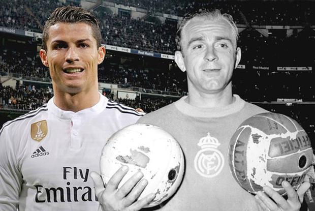 Ronaldo cân bằng thành tích với Di Stefano.