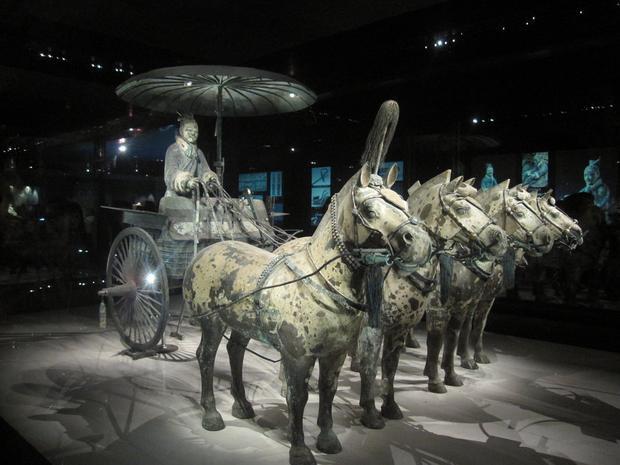 Ngựa bên trong khu lăng mộ cũng có thiết kế như thật. Ảnh:Deviant art